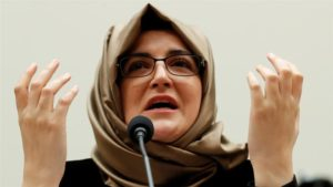 World has done nothing': Khashoggi fiancee gives US testimony