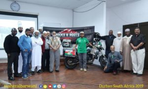 Omani motorcyclist makes pit stop in Durban on his travels across Africa