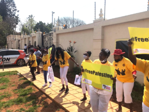 'Protest at UAE Embassy: 'We won't allow hired thugs to block us' – Desai