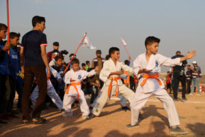 Displaced Syrian children hold 'Tent Olympics'